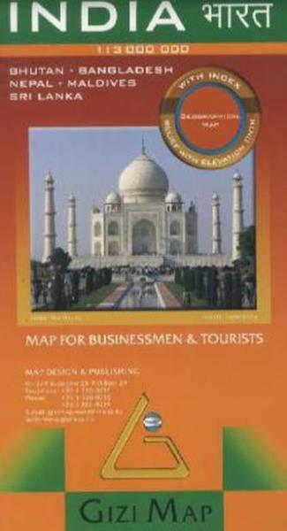 Vasarlas India Domborzati Terkep Gizimap Isbn 9789632121635