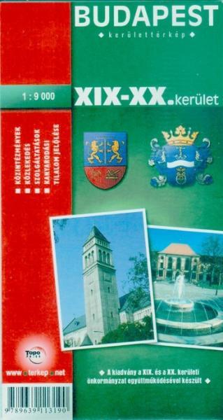 budapest térkép xix Vásárlás: Budapest XIX. és XX. kerület térkép (ISBN: 9789639113190) budapest térkép xix
