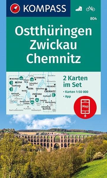 chemnitz térkép Vásárlás: 804. Ostthüringen, Zwickau, Chemnitz térkép 1: 50 000
