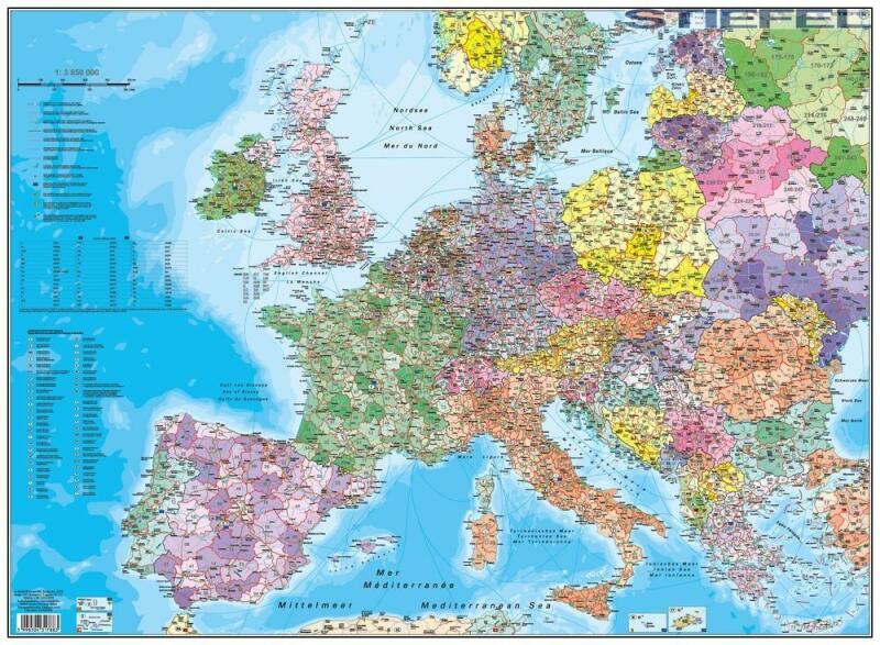 Vasarlas Europa Iranyitoszamos Faliterkep Konyoklo 66 X 45 Cm