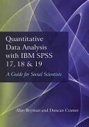 Quantitative Data Analysis with IBM SPSS 17, 18 & 19 (2011)
