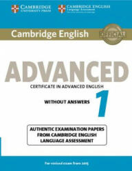 Cambridge English Advanced 1 for Revised Exam from 2015 Student's Book without Answers - CE LA (ISBN: 9781107689589)
