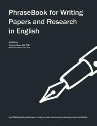 Phrasebook for Writing Papers and Research in English (ISBN: 9781492959793)