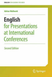 English for Presentations at International Conferences - Adrian Wallwork (ISBN: 9783319263281)