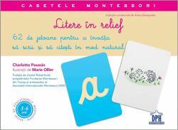 Litere în relief. Casetele Montessori (ISBN: 9786066834797)