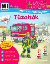 Mi micsoda junior: Tűzoltók matricás rejtvényfüzet (2018)
