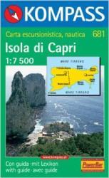 Capri / Isola di Capri turistatérkép / Kompass (ISBN: 9783854912743)