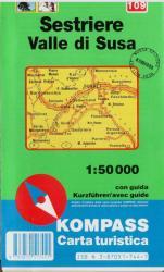 Sestriere - Valle di Susa turistatérkép / Kompass (ISBN: 9783870517441)