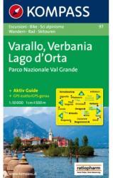 KK 97 Varallo - Verbania - Lago d`Orta - Parco Nazionale Val Grande turistatérkép (ISBN: 9783854913030)