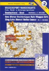 Németország Nyugat vízisporttérkép / Deutschland West 2. Wassersport-Wanderkarte (ISBN: 9783929540222)