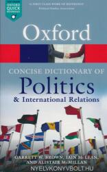 Concise Oxford Dictionary of Politics and International Relations (ISBN: 9780199670840)