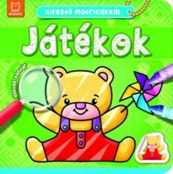 Kifestő matricákkal - Játékok (ISBN: 9786155634871)