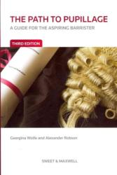 Path to Pupillage - A Guide for the Aspiring Barrister (ISBN: 9780414025745)