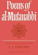Poems of Al-Mutanabbi (ISBN: 9780521108485)