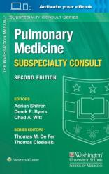 Washington Manual of Pulmonary Medicine Subspecialty Consult (ISBN: 9781451114171)