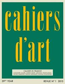 Cahiers d'Art N (ISBN: 9782851171818)