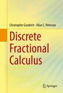 Discrete Fractional Calculus (ISBN: 9783319255606)