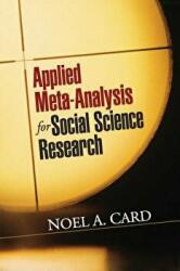 Applied Meta-Analysis for Social Science Research (ISBN: 9781462525003)