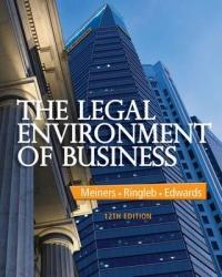 Legal Environment of Business (ISBN: 9781285428222)