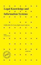 LEGAL KNOWLEDGE & INFORMATION SYSTEMS (ISBN: 9781614996088)