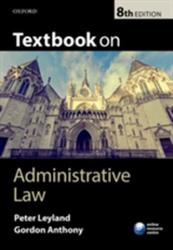 Textbook on Administrative Law (ISBN: 9780198713050)
