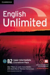 English Unlimited Upper Intermediate Coursebook with e-Portfolio and Online Workbook Pack - Alex Tilbury, Theresa Clementson, Leslie Anne Hendra, David Rea, Rob Metcalf, Chris Cavey, Alison Greenwood (ISBN: 9781107691957)