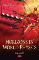 Horizons in World Physics - Albert Reimer (ISBN: 9781634858823)