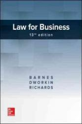 Law for Business (ISBN: 9781259722325)