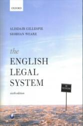 English Legal System (ISBN: 9780198785439)