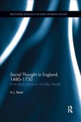 Social Thought in England, 1480-1730 (ISBN: 9780815381457)