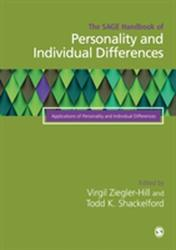 The Sage Handbook of Personality and Individual Differences: Volume III: Applications of Personality and Individual Differences - Volume III: Applica (ISBN: 9781526445193)