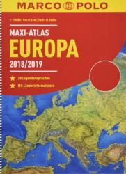 MARCO POLO Maxi-Atlas Europa 2018/2019 (ISBN: 9783829737333)