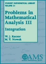 Problems in Mathematical Analysis - Integration (ISBN: 9780821832981)