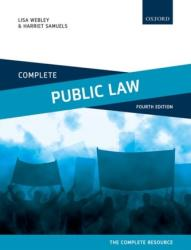 Complete Public Law - Text, Cases, and Materials (ISBN: 9780198798064)