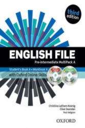 English File third edition: Pre-intermediate: MultiPACK A with Oxford Online Skills - Clive Oxenden, Clive Oxenden, Paul Seligson (ISBN: 9780194517966)