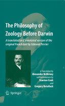 Philosophy of Zoology Before Darwin (2009)
