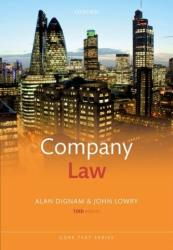 Company Law (ISBN: 9780198811831)