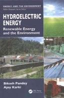 Hydroelectric Energy (ISBN: 9781439811672)