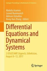 Differential Equations and Dynamical Systems - 2 USUZCAMP, Urgench, Uzbekistan, August 8-12, 2017 (ISBN: 9783030014759)