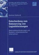 Entscheidung Zum Outsourcing Von Logistikleistungen (2006)