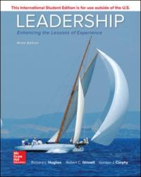 Leadership: Enhancing the Lessons of Experience - Hughes (ISBN: 9781260092530)