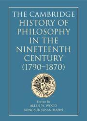 Cambridge History of Philosophy in the Nineteenth Century (ISBN: 9781108450799)