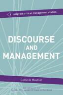 Discourse and Management - Gerlinde Mautner (ISBN: 9781137300379)