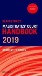 Blackstone's Magistrates' Court Handbook 2019 (ISBN: 9780198826651)