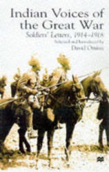 Indian Voices of the Great War - Soldiers' Letters, 1914-1918 (ISBN: 9780333751459)
