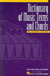 Dictionary of Music Terms and Chords (ISBN: 9780934286695)