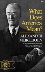 What Does America Mean? (ISBN: 9780393006582)