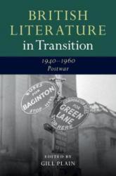British Literature in Transition (ISBN: 9781107119017)