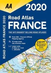 AA Road Atlas France 2020 (ISBN: 9780749581404)