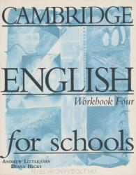Cambridge English for Schools 4 Workbook (2005)